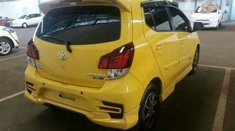 New Agya 2017 Spoiler Ornament Chrome Aksesoris Toyota Agya 2017 Toyota Agya Spied Undisguised For The Time