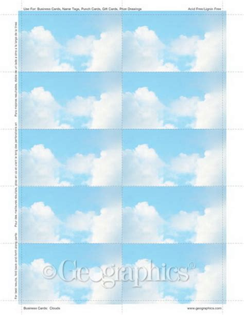 geographics business cards template clouds business cards 2 x3 5 quot