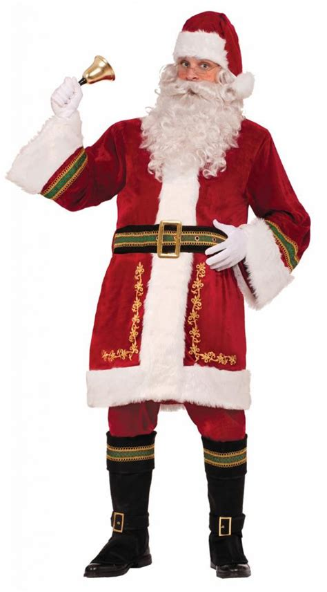 real santa costume deluxe classic santa claus costume by forum novelties