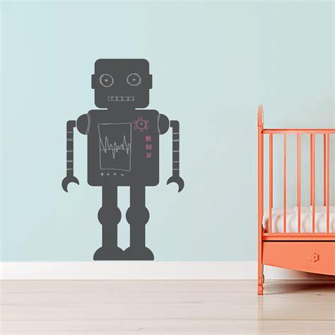 robot wall sticker chalkboard robot wall decal