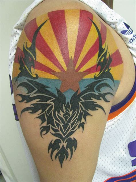 arizona flag tattoo arizona flag of arizona flag with bird on