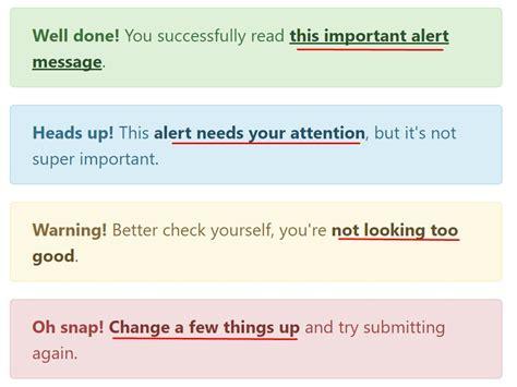div text color bootstrap alert jquery
