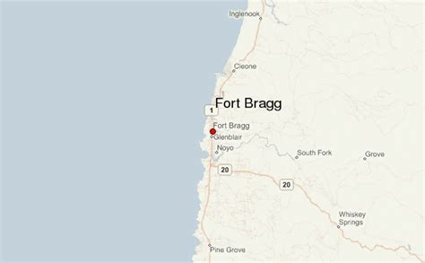 california map fort bragg fort bragg california location guide