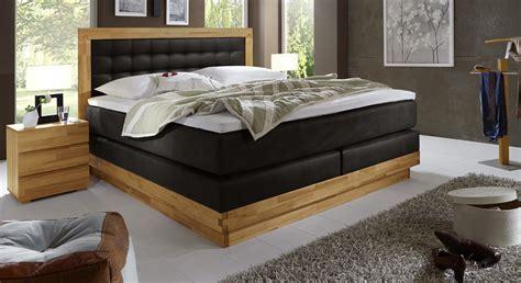 wöstmann schlafzimmer boxspringbett aus kernbuche mit luxus kunstleder olbiano