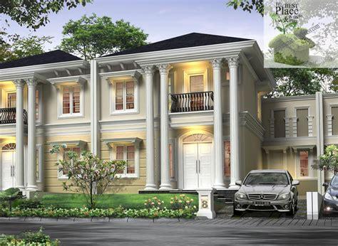 konsep design eksterior rumah konsep terbaru model rumah mewah 2 lantai minimalis 2015