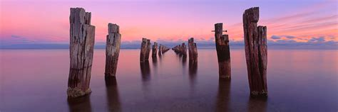 Towns In Usa clifton springs pier photos old jetty pylons print mark