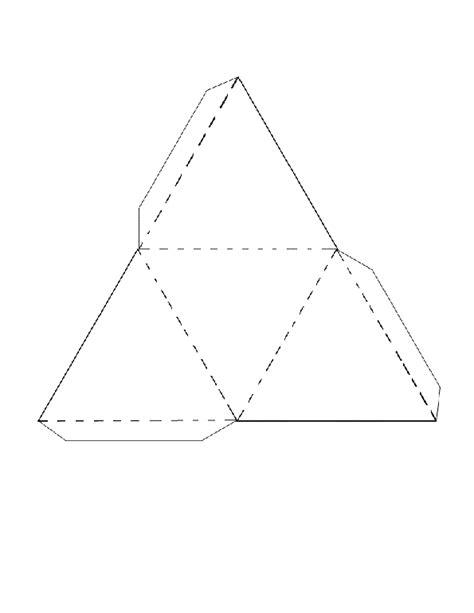 Triangular Pyramid Template