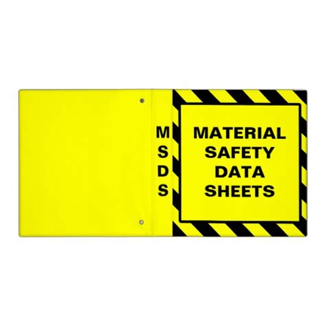 printable msds binder cover sheet msds binders zazzle