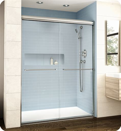 Banyo Shower Doors Fleurco El148 Banyo Cordoba Bypass Plus 48 Quot Semi Frameless 3 8 Quot Thick Sliding Shower Doors