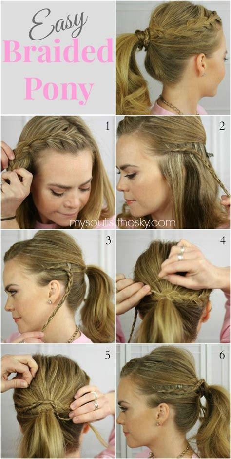 headband styler tutorial 14 braided ponytail hairstyles new ways to style a braid