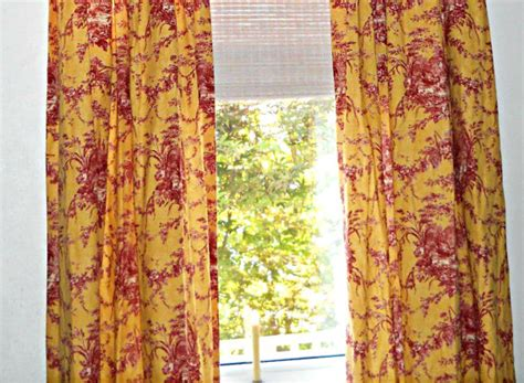 yellow toile curtains 2 pairs waverly la petite ferme toile drapes and by