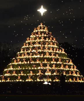 belhaven celebrates 84 years of singing christmas tree