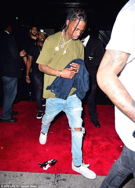 Rihanna joins Travis Scott on a night out after seen