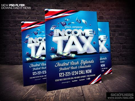 Income Tax Flyer Template Psd By Industrykidz Dribbble Tax Flyer Templates Free