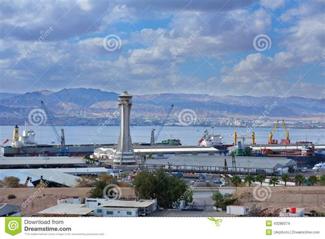porto giordania porto di aqaba giordania immagine stock editoriale