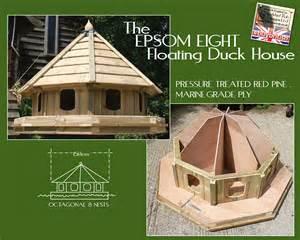 Mallard Duck House Plans Epsom Eight Floating Duck House Df Epsom08 Duck Houses