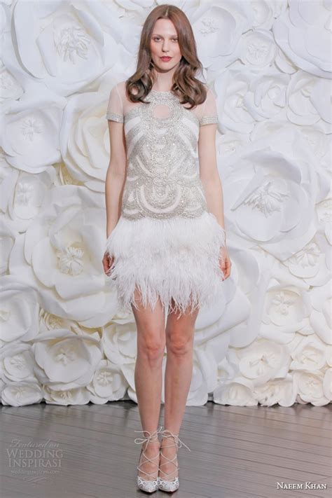 mini skirt wedding dresses naeem khan bridal fall 2015 wedding dresses wedding