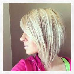 medium hair in back in front angled bobs with bangs short hairstyles 2016 2017