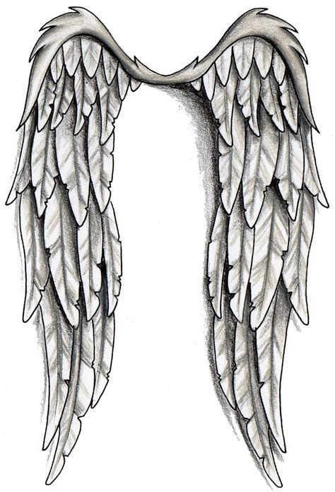 black and grey angel tattoo designs black and grey wings design wings