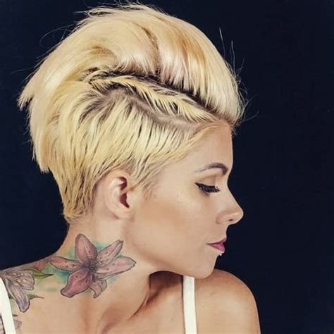 cute long spiked punky faux ponytail hairstyles with banana clip 70 most gorgeous mohawk hairstyles of nowadays