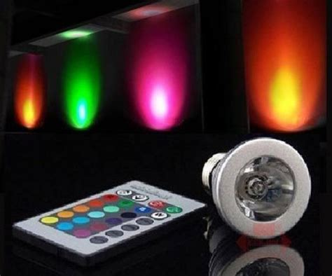 change light color changing led light bulb with remote dudeiwantthat
