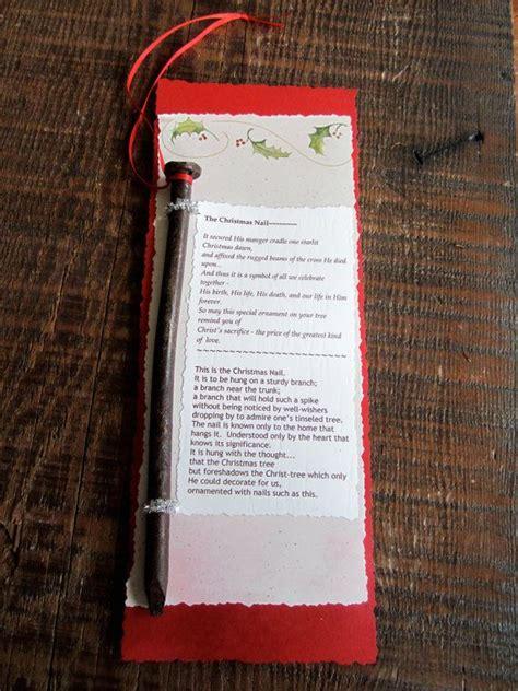 printable christmas nail poem the christmas nail tree ornament religious christmas