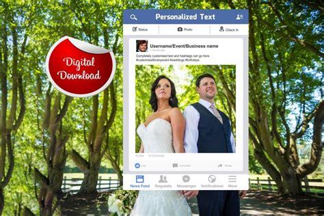 design frame for facebook facebook frame custom design photo booth prop digital