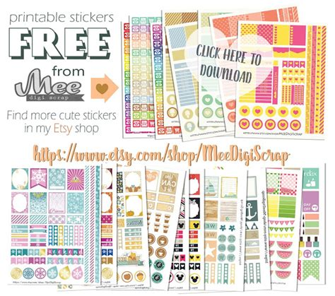 printable planner kits mee scrapbook kits free download