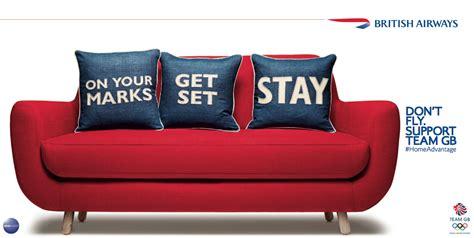 sofa adverts print ad british airways sofa