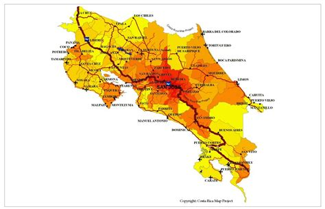 costa rica population density map osa peninsula general information and maps of the osa