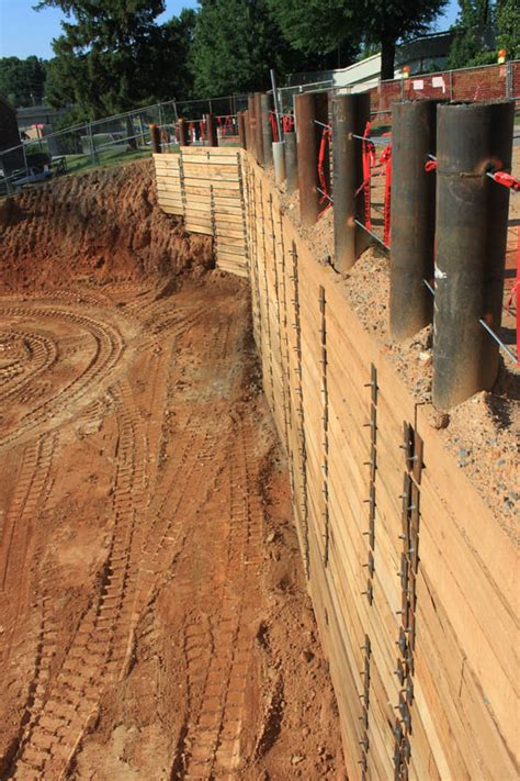 timber sheet pile wall wood retaining wall design engineering images and photos