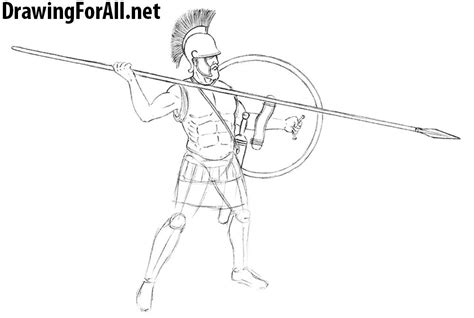 doodle how to make warrior ancient warrior drawing www imgkid the image