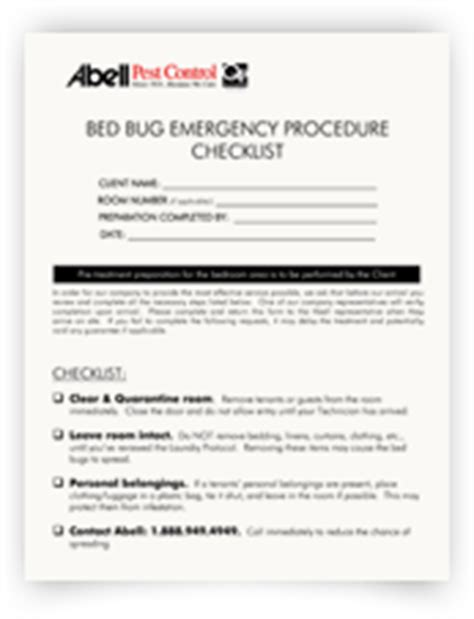 bed bug checklist free bed bug training abell pest control