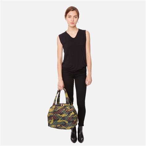 mz wallace lyst mz wallace large sutton quilted camo oxford in green