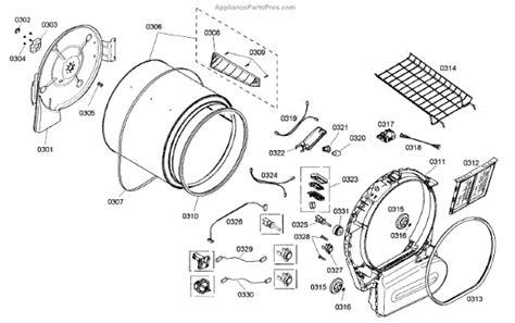 bosch dryer parts diagram bosch 00618931 bearing appliancepartspros