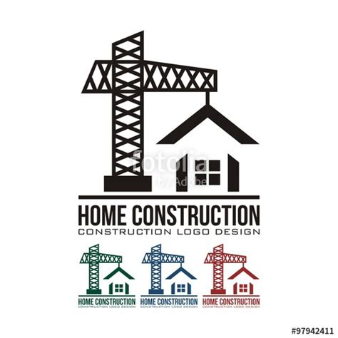 home builder logo design quot home construction design logo vector quot stock image and
