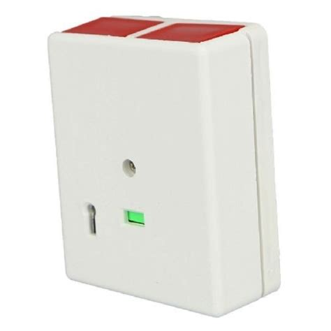 kp4 latching push panic attack button white