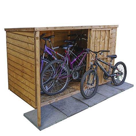 Motorcycle Sheds For Sale by 6 215 3 Overlap Wooden Garden Bike Store Doors Pent