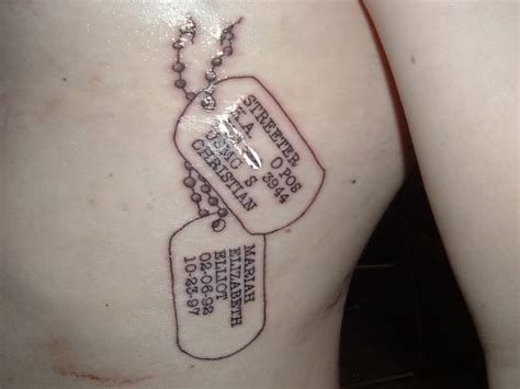 meat tag tattoo 17 best images about on