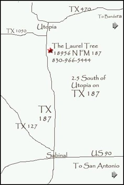 utopia texas map the laurel tree utopia texas