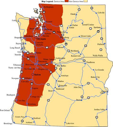 map of western oregon oregon washington map my
