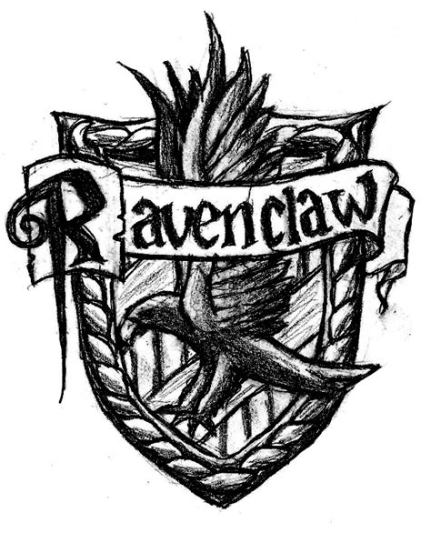 harry potter coloring pages ravenclaw how to draw ravenclaw crest