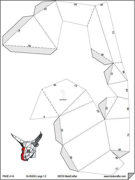 template mask papercraft halloween paper bull ox mask papercraft template