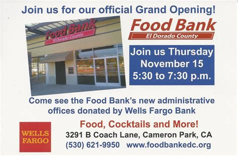 Food Pantry Open On Thursday by Food Bank Of El Dorado County