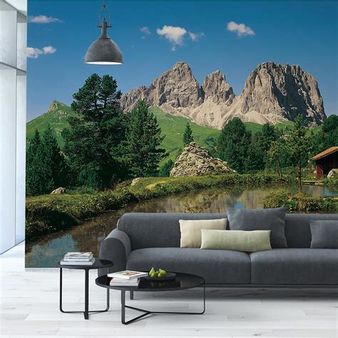 home depot wall murals komar 106 in x 153 in dolomiten wall mural 8 9017 the home depot