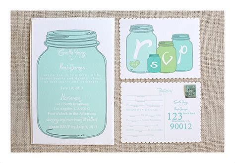 jar invitation template jar wedding program template weddingplusplus