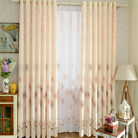 red country curtains korean fresh blackout cotton and linen orange red country