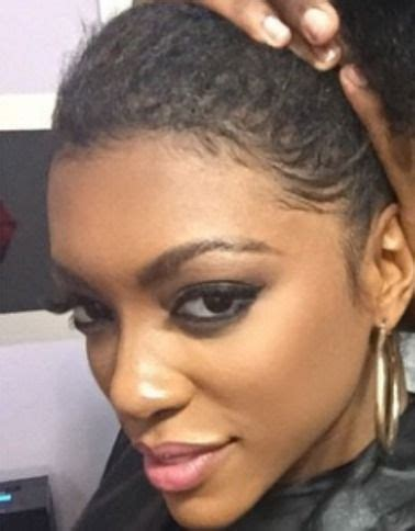porsha williams real hair natural for 2 5 seconds porsha williams shows off her