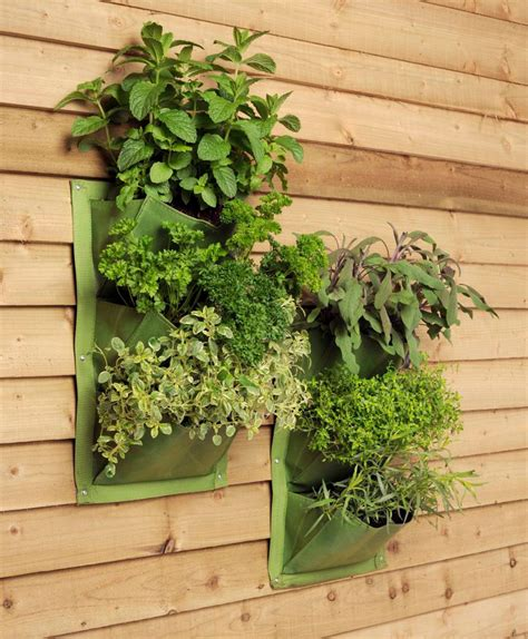 Vertical Garden Planters by 2 Vertical Planter Bags Burgon Green 163 14 35