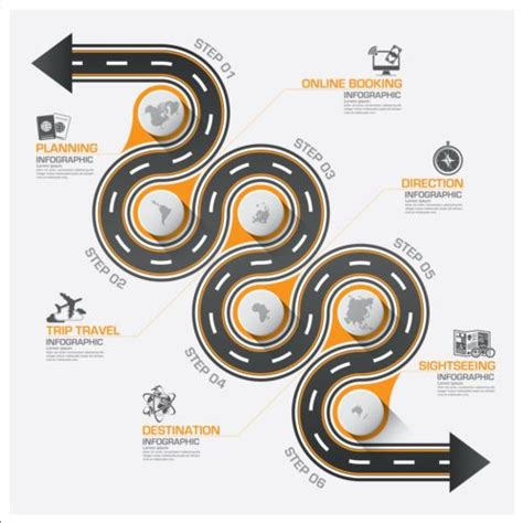 creative road design elements vector infographic ideas 187 infographic template roadmap best